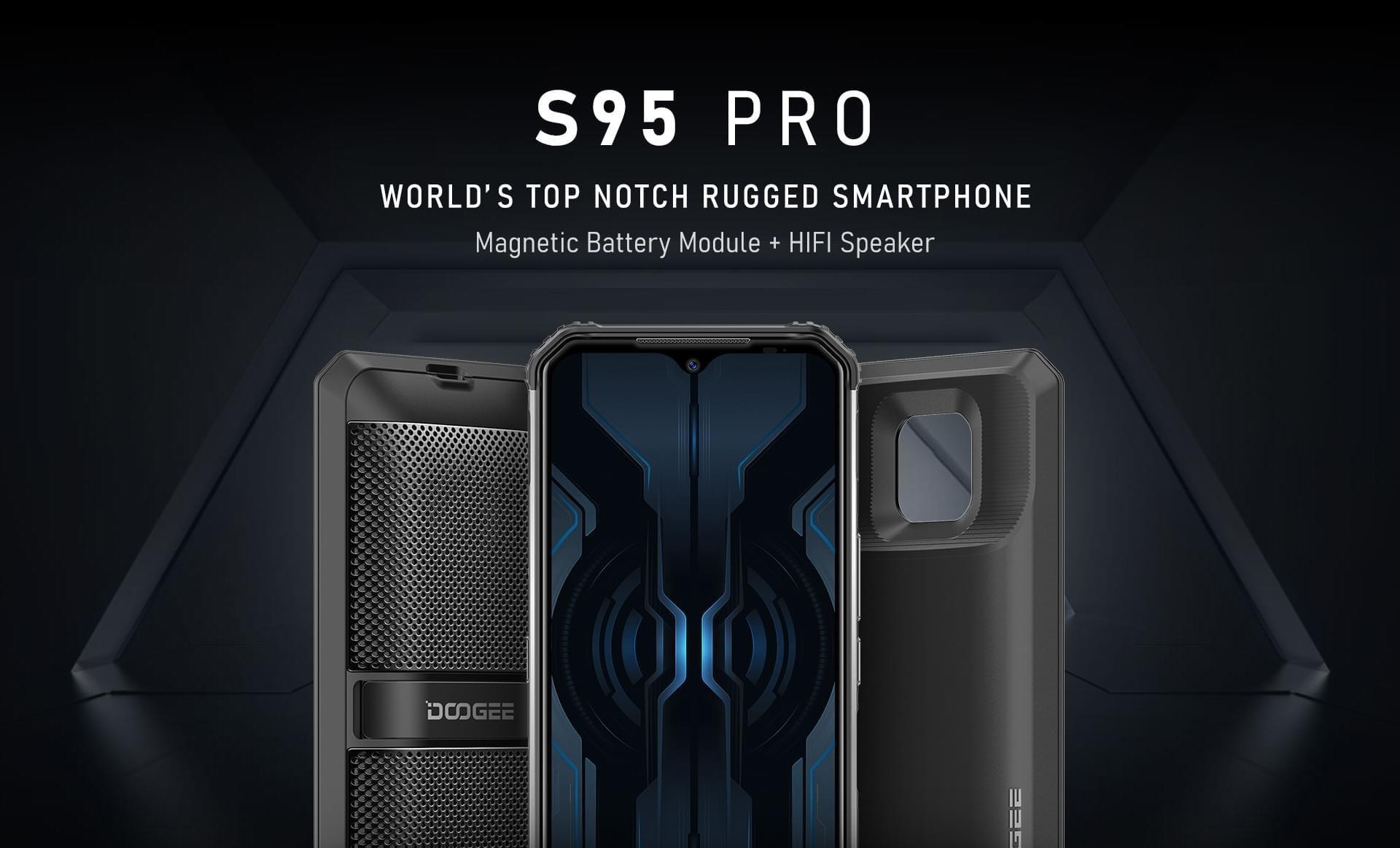 Doogee全新三防模块化手机S95 Pro:最高8650mAh电池